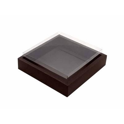 Caixa 12 macarons - Borda Marrom escuro