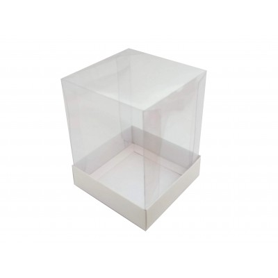 Caixa Mini Panetone 250g - Branco - 12x12x16