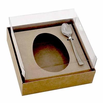 Caixa ovo de colher 100g/150g - kraft - com colher