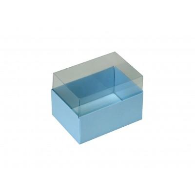 Caixa para 2 macarons - Azul Bebê