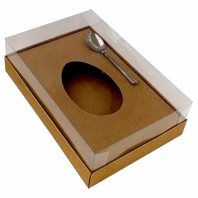 Caixa ovo de colher multiberço 250g 350g 500g - kraft - com colher