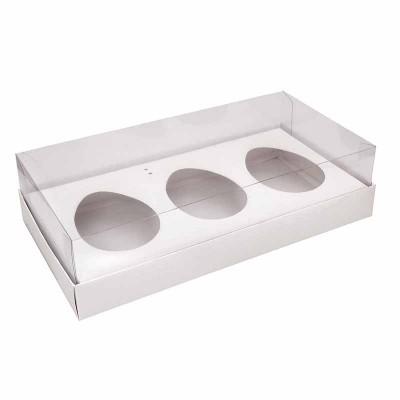 Caixa ovo de colher 150g x 3 - branca