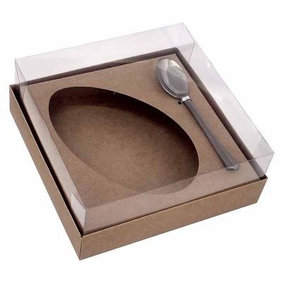 Caixa ovo de colher 350g - kraft - com colher