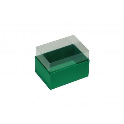 Caixa para 2 macarons - Verde Bandeira