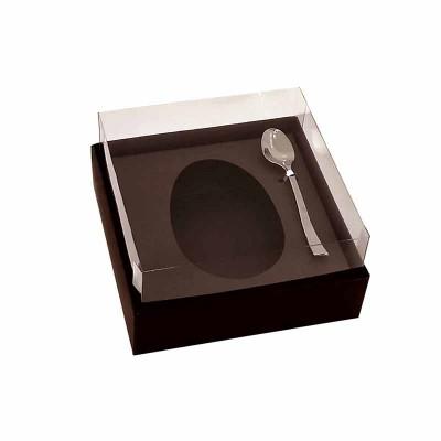 Caixa ovo de colher 100g/150g - marrom marrocos - com colher