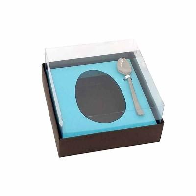 Caixa ovo de colher 100g/150g - colorida - com colher