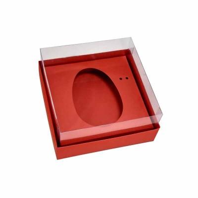 Caixa ovo de colher 100g/150g - vermelho
