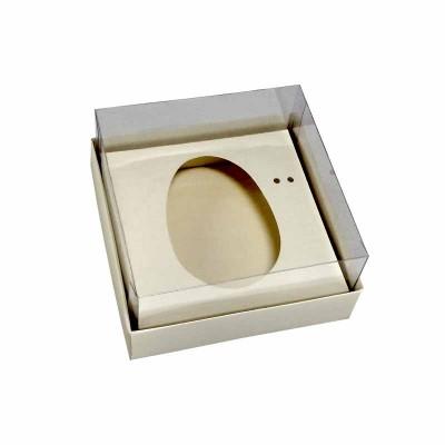 Caixa ovo de colher 100g/150g - marfim