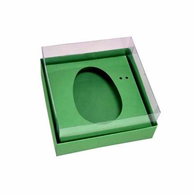 Caixa ovo de colher 100g/150g - verde-maçã