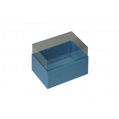 Caixa para 2 macarons - Azul Nice