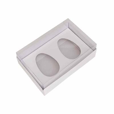 Caixa ovo de colher 50g x 2 - branco