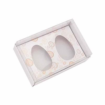 Caixa ovo de colher 50g x 2 - branco Temática