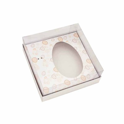 Caixa ovo de colher 250g - branca Temática