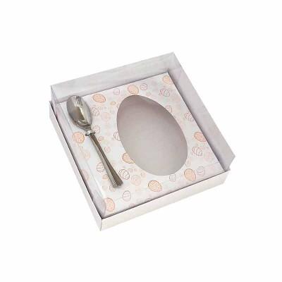 Caixa ovo de colher 250g - branca Temática - com colher