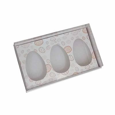 Caixa ovo de colher 50g x 3 - branco temática
