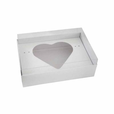 Caixa Ovo de Colher Coração 500g - Branca