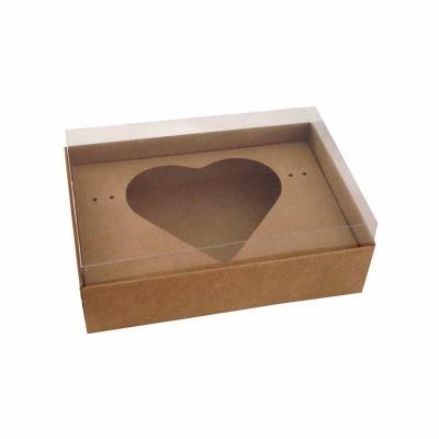 Caixa Ovo de Colher Coração 500g - Kraft