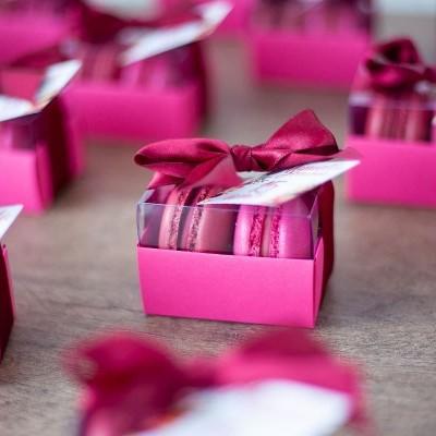 Caixa para 2 macarons - Rosa Pink