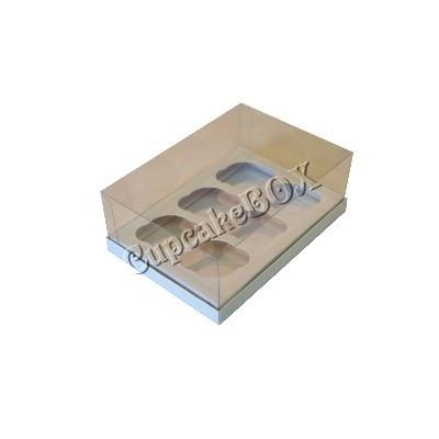 Caixa 6 mini cupcakes - Branca