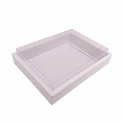 Caixa 12 macarons deitados - Borda Branca