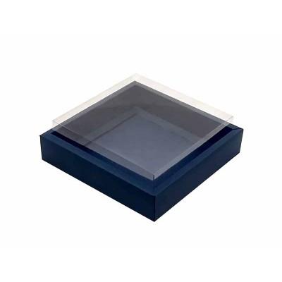 Caixa 12 macarons - Borda Azul escuro