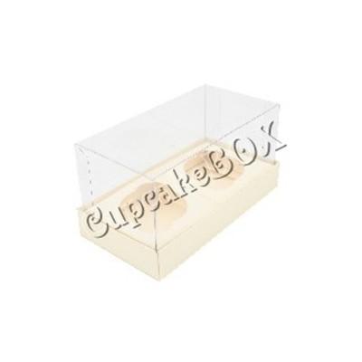 Caixa para 2 Mini Cupcakes - Marfim