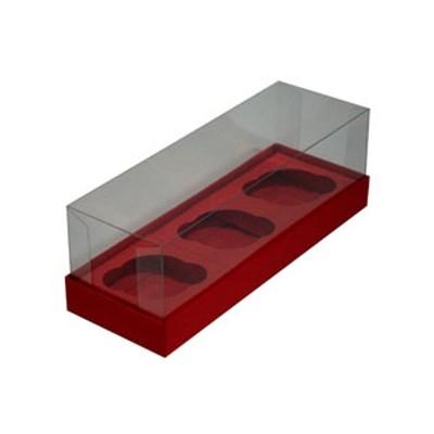 Caixa para 3 Mini Cupcakes - Vermelho