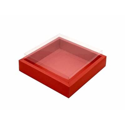 Caixa 9 macarons deitados - Borda Vermelha