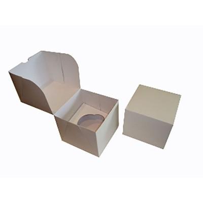 Caixa Única para 1 Cupcake - Branco