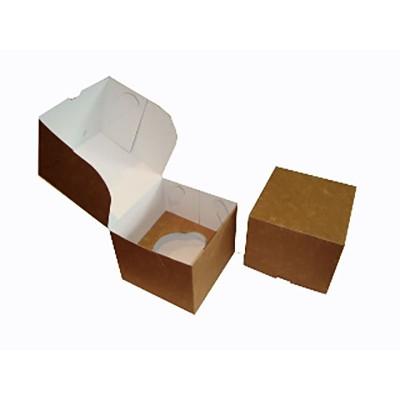 Caixa Única para 1 Cupcake - Kraft