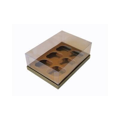 Caixa 6 mini cupcakes - Kraft
