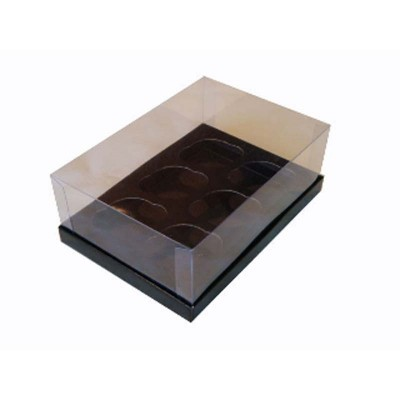 Caixa 6 mini cupcakes - Preto