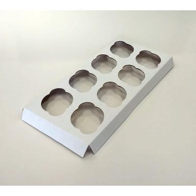 Berço para Caixa Transporte 8 Cupcakes Padrão - Pct 50 unidades