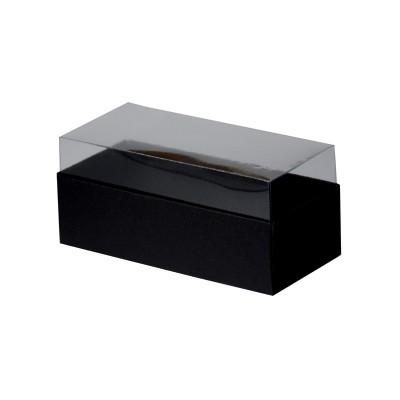 Caixa para 3 macarons - Preto fosco