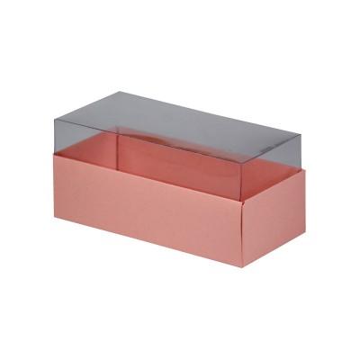 Caixa para 3 macarons - Rosa Salmão