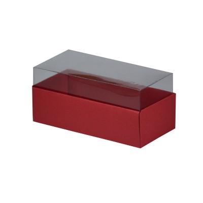 Caixa para 3 macarons - Vermelho escuro