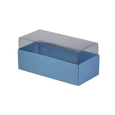 Caixa para 3 macarons - Azul Nice