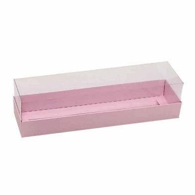 Caixa para 7 a 8 macarons - Rosa bebê
