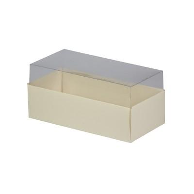 Caixa para 3 macarons - Marfim