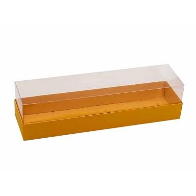 Caixa para 7 a 8 macarons - Alaranjado