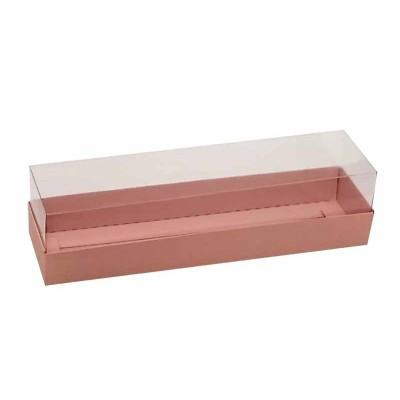 Caixa para 7 a 8 macarons - Rosa Salmon