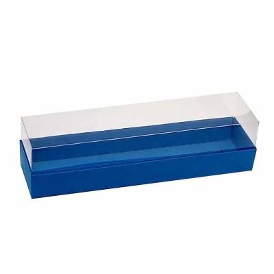 Caixa para 7 a 8 macarons - Azul Royal