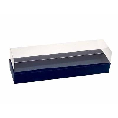 Caixa para 7 a 8 macarons - Azul Escuro