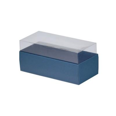 Caixa para 3 macarons - Azul Escuro