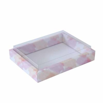 Caixa 12 macarons deitados - Borda - Aquarela