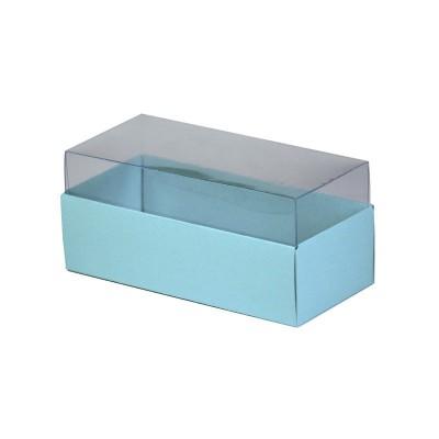 Caixa para 3 macarons - Azul bebê