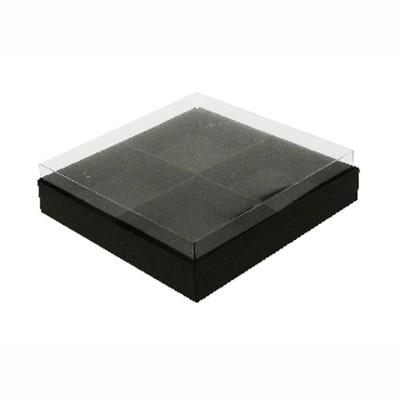 Caixa para 4 brownies - Preto