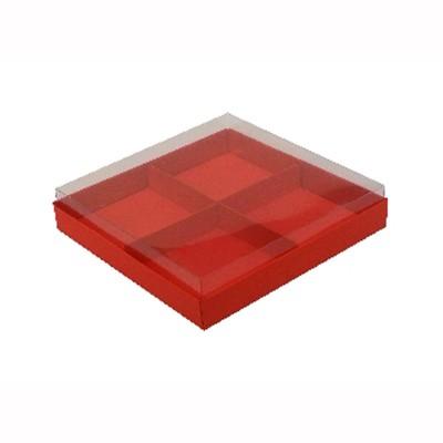 Caixa para 4 brownies - Vermelho