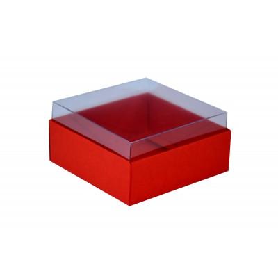 Caixa para 4 doces e bombons - Vermelho