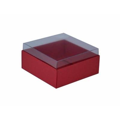 Caixa para 4 doces e bombons - Vermelho escuro